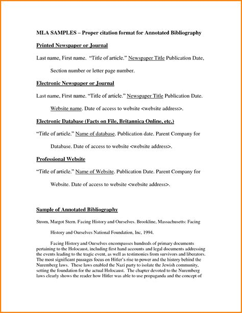 apa style format for a website 5 annotated bibliography website sle annotated