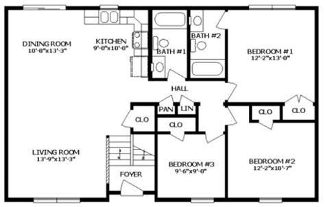 professional floor plans mckean iii by professional building systems ranch floorplan
