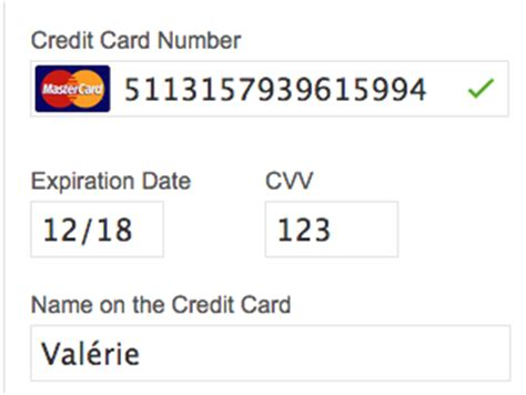 valid credit card numbers with cvv and expiration date
