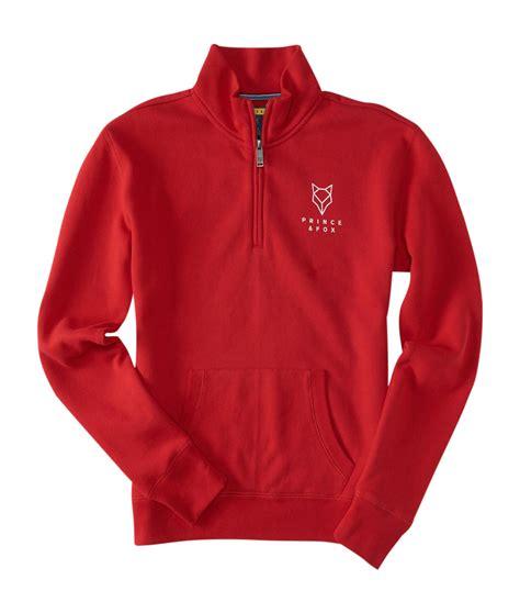 Prince Fox Sweatshirt Sleeve aeropostale womens prince fox logo half zip pullover sweatshirt ebay