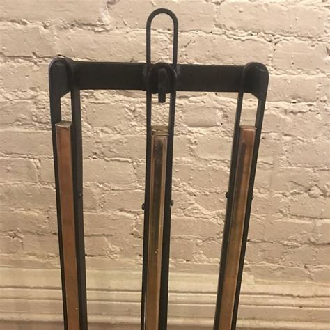mid century modern fireplace for sale wrought iron and brass mid century modern fireplace tools