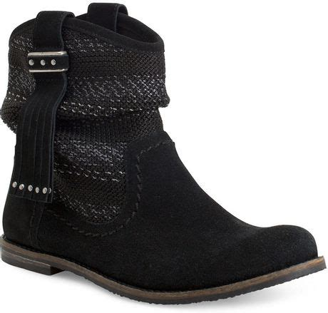 black knit boots the sak jezebelle suede and knit boots in black lyst