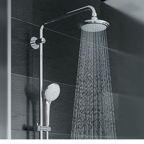grohe euphoria grohe euphoria 180 shower system with free grohe aquatunes 27296001 bath and taps