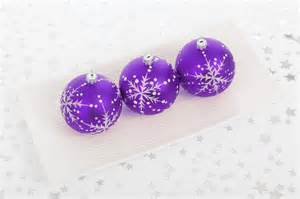 purple bauble decorations free stock photo public domain