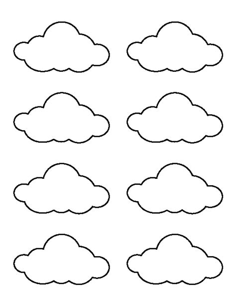 printable clouds templates small cloud pattern use the printable outline for crafts