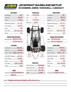 race car setup sheet template joes jr sprint setup sheets free