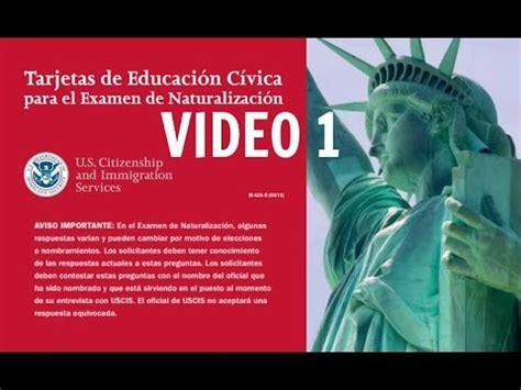 preguntas ciudadania espanol uscis 2018 100 preguntas y respuetas en orden mixto doovi