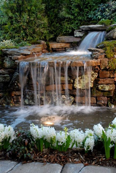 backyard fountains and waterfalls 25 best ideas about garden waterfall on pinterest rock waterfall diy waterfall and