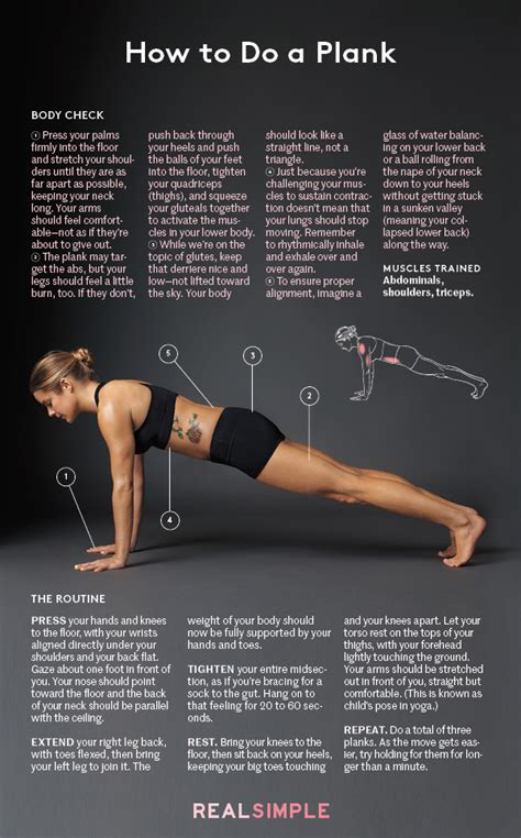 how to do a plank real simple