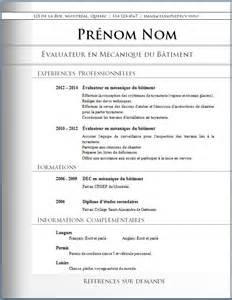 Pro Resume Sles by Exemple Modele Curriculum Vitae Professionnel