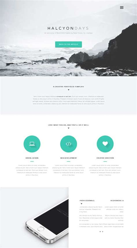 single page phlet templates 70 best one page website templates free premium