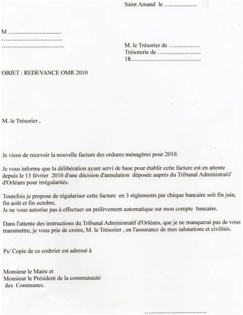 Demande De Facture Lettre Type Lettre Type Demande De D 233 Lai De Paiement 224 La Tr 233 Sorerie Le De Cvus