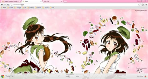 theme google chrome anime nisekoi nisekoi onodera sisters chrome theme themebeta