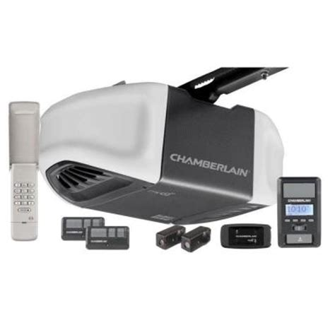 chamberlain 1 25 hps belt drive battery backup smartphone
