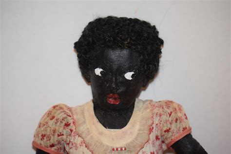 black doll noose vintage doll black cloth doll cloth formed nose