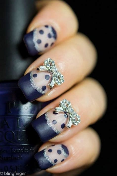 easy nail art bow 30 cute cool and simple bow nail art designs for girls