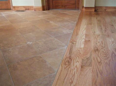 flush wood to tile transition living room project pinterest