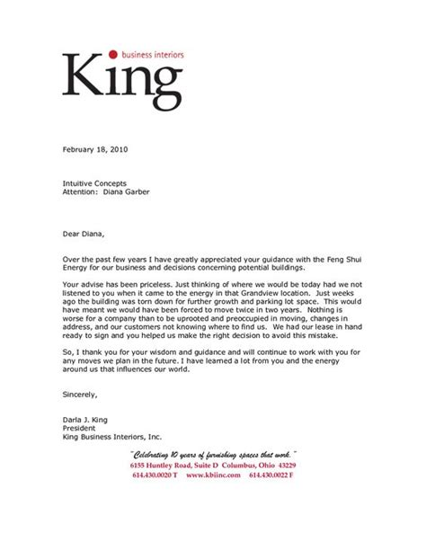 business testimonial template business letter of reference template king business