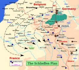 Plan 17 War Plans 1914 Map Showing The Schlieffen Plan