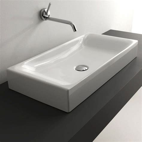 Bathroom Sink Counter by Ws Bath Collections Cento 3556 Counter Top Ceramic Sink 27 6 Quot X 13 8 Quot
