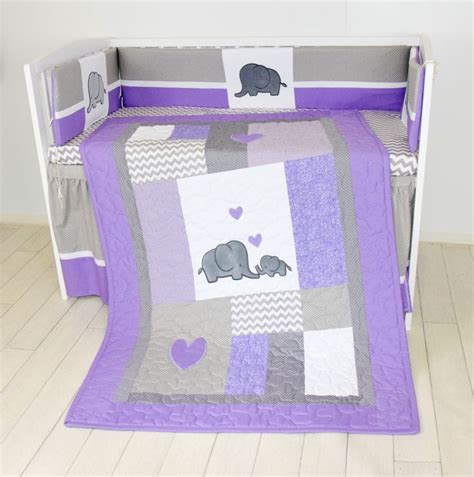 Purple Elephant Crib Bedding 1000 Ideas About Elephant Crib Bedding On Pinterest Elephant Baby Rooms Baby Chevron And