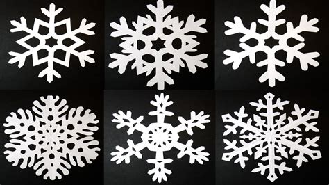 How To Make 6 Pointed Paper Snowflakes - deck