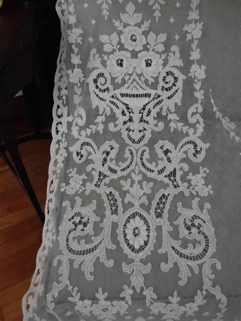 Antique Lace Curtains 17 Best Images About Antique Lace And Crochet Curtains On Embroidered Lace Net