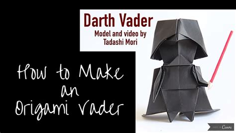 Origami Wars Darth Vader - how to fold the cutest origami darth vader holy kaw
