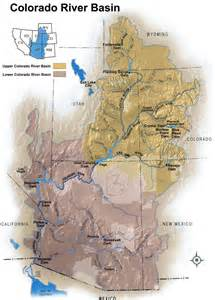 colorado river watershed map 6a reservoirs on the colorado river