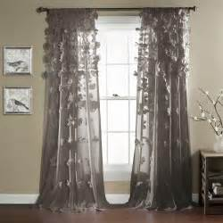 Grey Window Curtains Gorgeous Gray Grey Modern Textured Bows Curtain Panel Window Treatment 84 Quot L Ebay