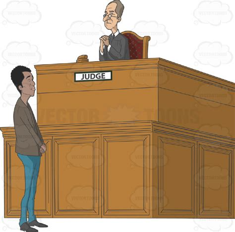judge bench african american man standing in front of a judge s bench