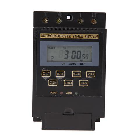 Automatic Digital Timer Switch We kg316t ii ac220v 25a din rail lcd digital programmable