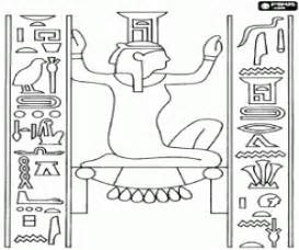 coloring pages for egyptian hieroglyphs ancient egypt coloring pages printable games 2