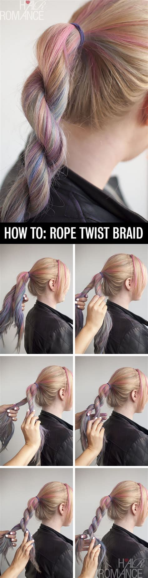 how to twist braid step by step hairstyle tutorial how to do a rope twist braid hair