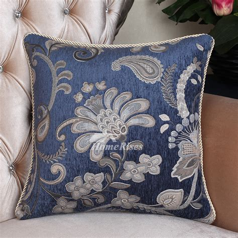 oversized toss pillows oversized country vintage floral blue best throw pillows
