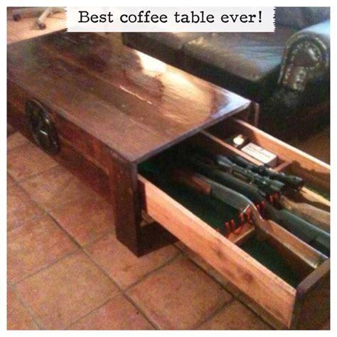 Coffee table gun storage. Hidden gun cabinet.   For the Home   Pinterest   Hidden gun cabinets