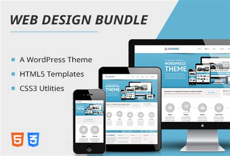 bundle of html5 templates css3 utilities a wp theme