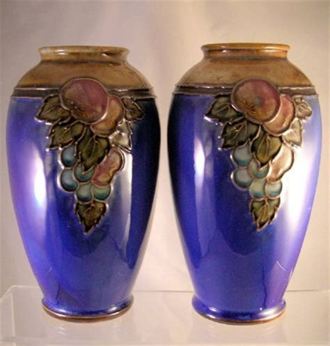 Royal Doulton Vases Value royal doulton pair of vases by ethel beard 34933 price value royal doulton sale prices values