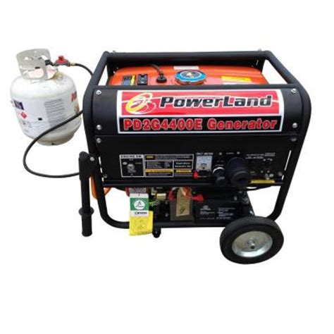 powerland 4 400 watt dual fuel lpg and gasoline generator