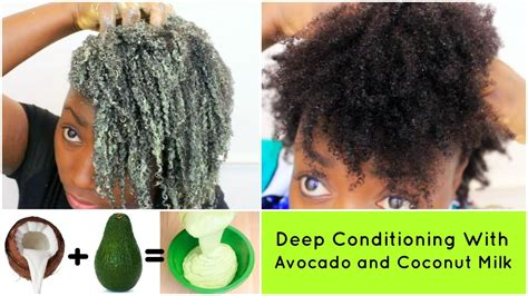 hair after deep conditioning recipe on a girls gotta spa haircare deep conditioning natural hair 4c avocado and coconut milk