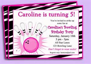 bowling invitation girls bowling birthday party