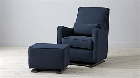 navy glider and ottoman navy nursery glider thenurseries