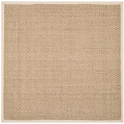 10 X 10 Area Rugs Square Safavieh Fiber Beige Ivory 10 Ft X 10 Ft Square Area Rug Nf114j 10sq The Home Depot