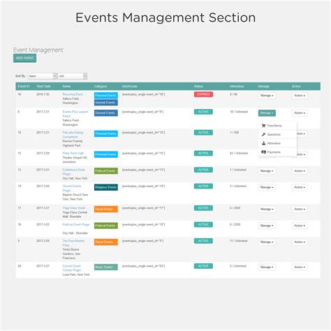 Event Calendars Events Calendar Registration Booking By Elbisnero