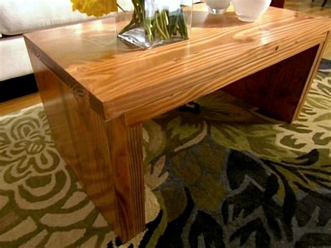 coffee table bench diy build a coffee table hgtv