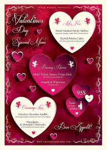 valentines day menu template valentines day flyer and menu template psd design
