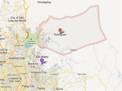 san jose rodriguez rizal map 100 families evacuate as rizal river continues to rise