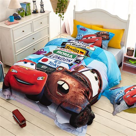 cars bedding twin lightning mcqueen cars 3d printed bedding sets 100 cotton