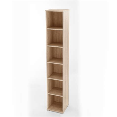 Narrow Storage Shelves Omega 6 Tier Narrow Shelving In Canadian Oak 1671 156 18256