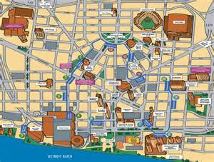 detroit map tourist attractions map travel